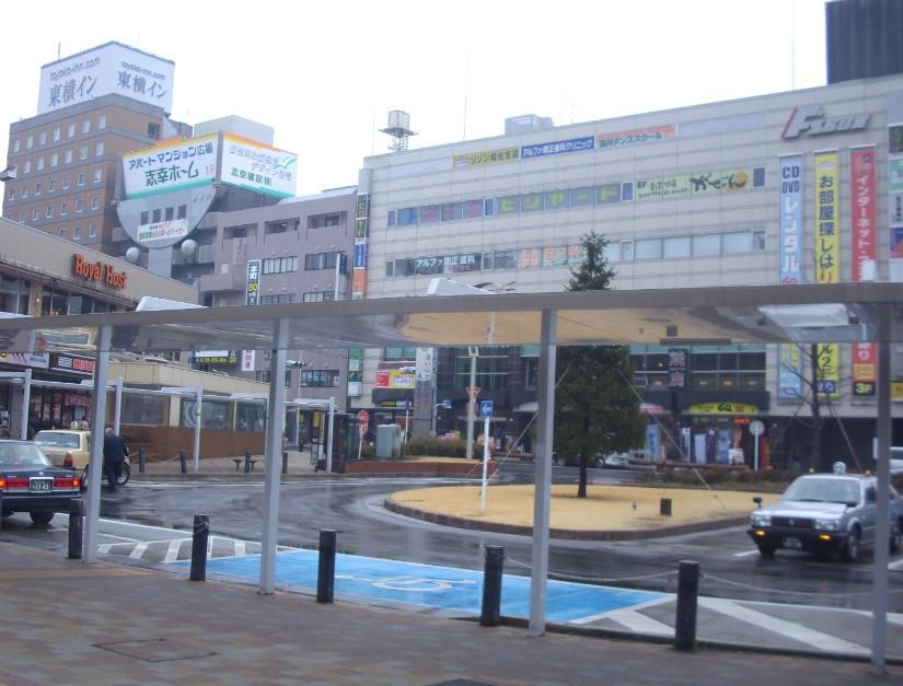 和光市駅前のロータリーです。