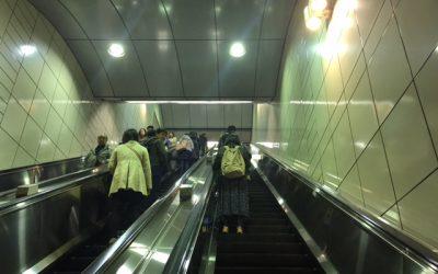 東京メトロ半蔵門線 錦糸町駅 ホームエスカレーター
