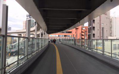 西日暮里駅 舎人ライナーとJR・千代田線をつなぐ陸橋
