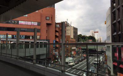 西日暮里駅 陸橋から見える風景