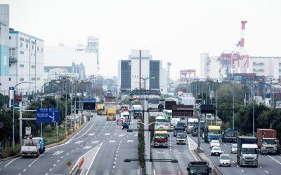 大型車の通行料が多い幹線道路