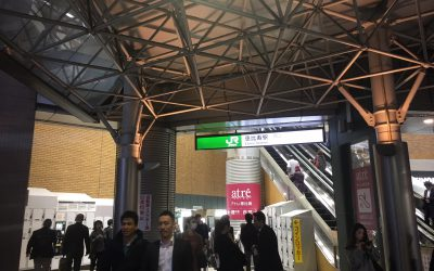 地上に上がると左手にJR恵比寿駅が見えます!