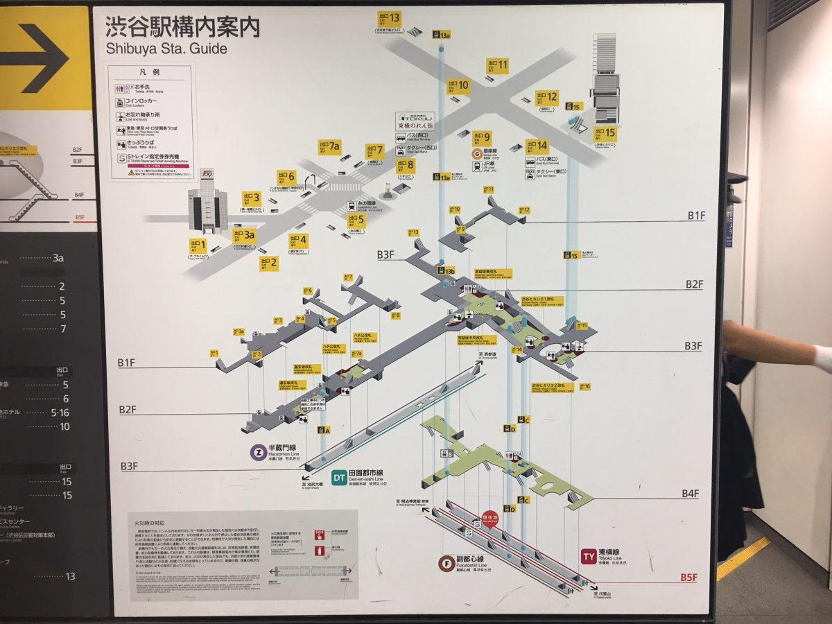 渋谷駅構内案内