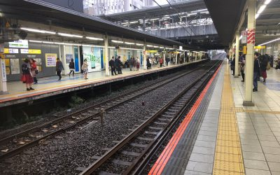南武線「武蔵小杉駅」ホーム
