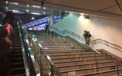 恵比寿駅 地上への階段/エスカレーター