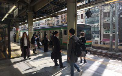 JR埼京線「渋谷駅」ホームへ到着!!!
