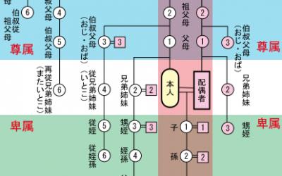 日本法での親族・親等