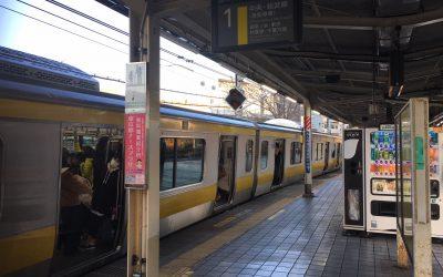 総武中央線「飯田橋駅」ホーム
