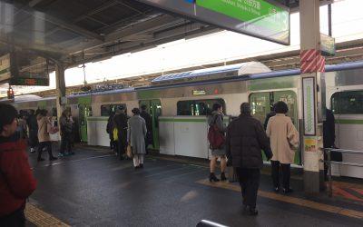 山手線「西日暮里駅」ホーム