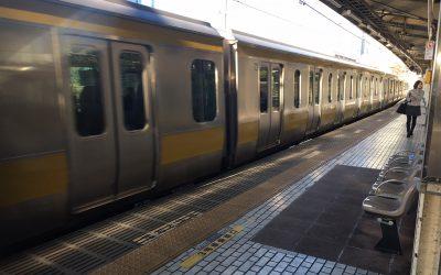 総武中央線「市ヶ谷駅」ホーム